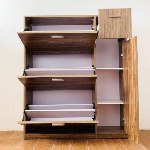 Ưu điểm của tủ giày thông minh bằng gỗ tự nhiên
