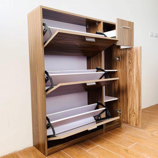 Tủ giày thông minh 3 tầng có tủ phụ 1
