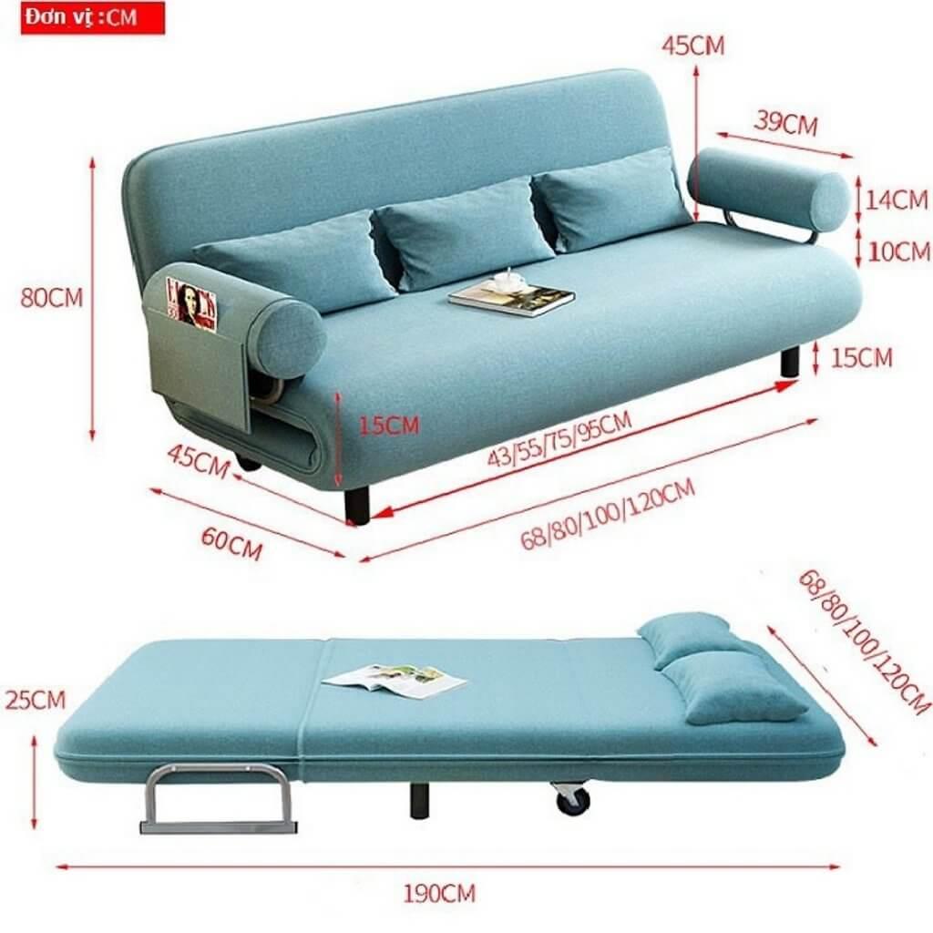 Mẫu sô pha giường đa năng 2 trong 1 tiện lợi