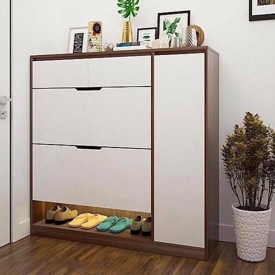 Sắp xếp tủ giày thông minh tạo không gian lý tưởng cho căn phòng