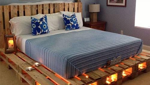 Giường ngủ giá rẻ từ gỗ Pallet