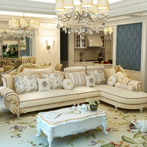 Bộ bàn ghế sofa tân cổ điển Châu Âu