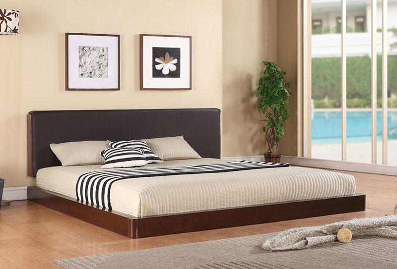 Giường ngủ chất liệu gỗ công nghiệp