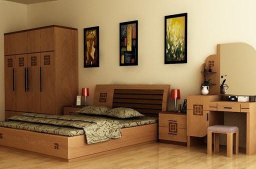 Giường ngủ làm từ gỗ xoan giá rẻ