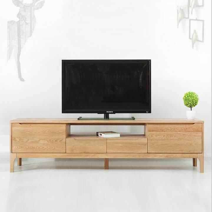 Kệ để tivi bằng gỗ tự nhiên giá rẻ TCS-111