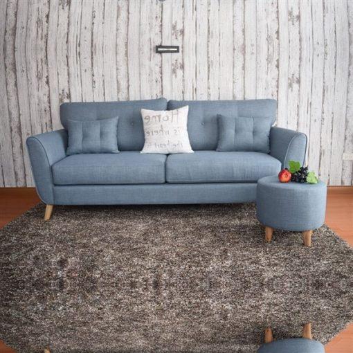 Ghế Sofa nỉ đơn đẹp màu xanh