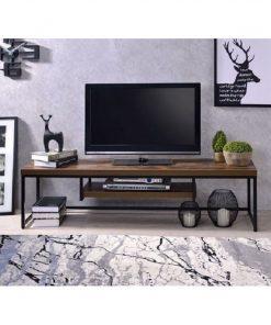 Kệ tivi 3 tấm gỗ nâu đen đẳng cấp