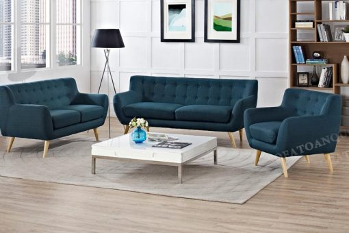 Sofa nỉ màu xanh đẳng cấp, sang trọng