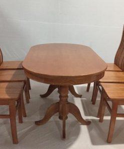 Bàn ăn 6 ghế gỗ sồi THS 138