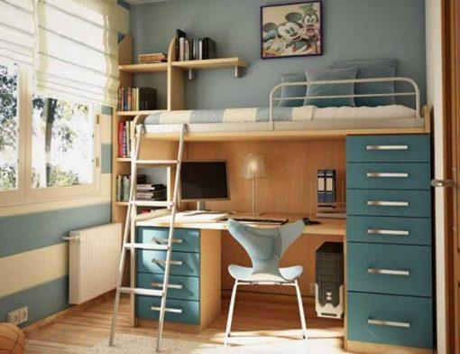 Giường ngủ kết hợp với bàn học THS 147