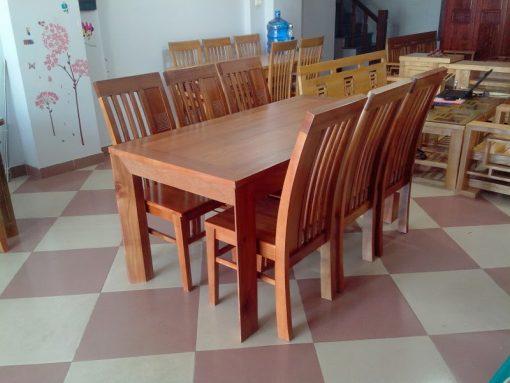 Các mẫu bàn ăn làm bằng gỗ hương hình chữ nhật dành cho 6 người