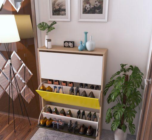 Tủ giày thông minh 3 ngăn THS 125 mix màu