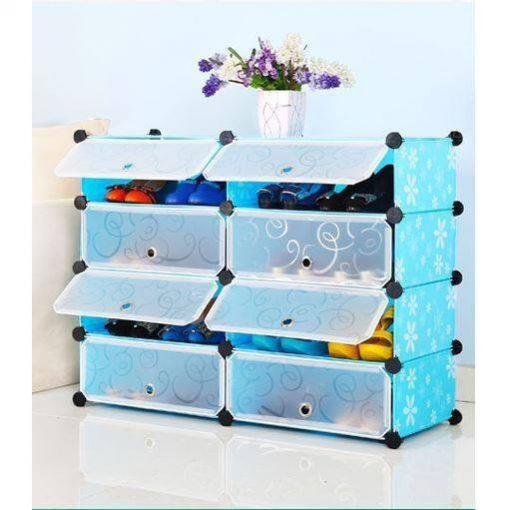 Tủ giày thông minh bằng nhựa THS 120 màu xanh