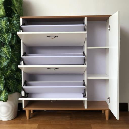 Các ngăn của tủ giày thông minh giá rẻ THS 124