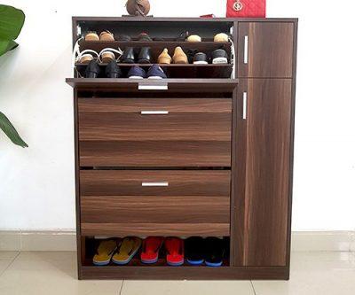 Tủ giày thông minh gỗ tự nhiên THS 122