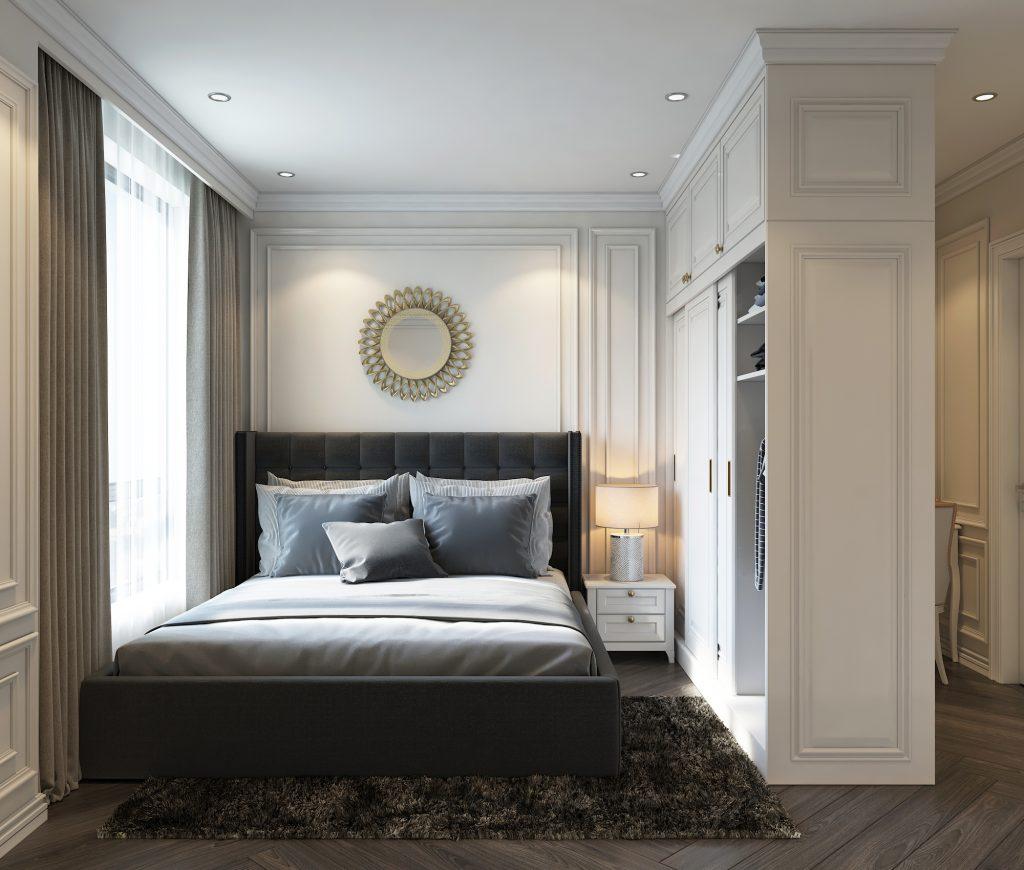 Nội thất chung cư 2 ngủ thiết kế nhẹ nhàng