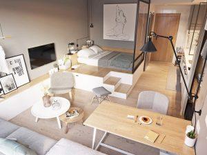 Thiết kế nội thất chung cư mini 30m2