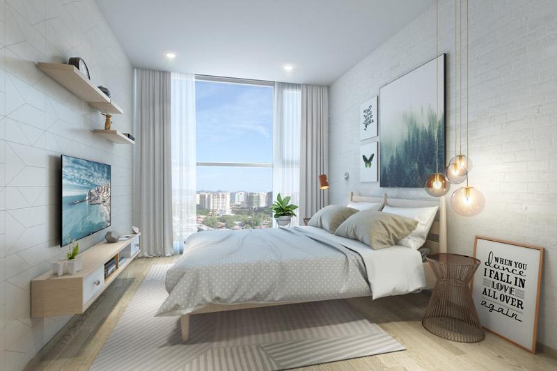 Thiết kế nội thất chung cư 1 phòng ngủ nhẹ nhàng tinh tế