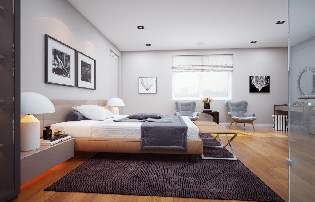Thiết kế nội thất chung cư 3 phòng ngủ tinh tế