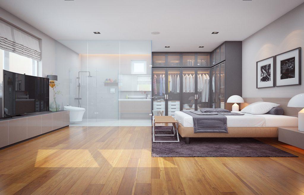 Thiết kế nội thất chung cư 3 phòng ngủ nhẹ nhàng