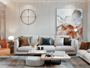 Thiết kế nội thất căn hộ mini 50m2