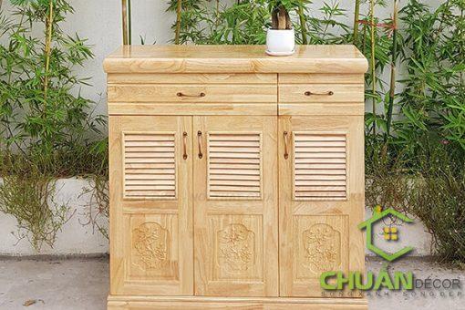 Tủ giày thông minh gỗ cao su siêu đẹp