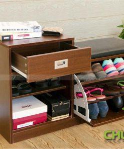 Tủ giày thông minh kết hợp ghế ngồi THS 131