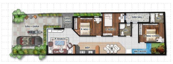 Bản vẽ thiết kế nhà 1 tầng