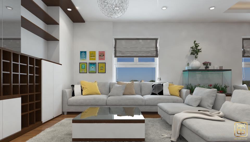 Nội thất chung cư giúp không gian thêm rộng và thoáng mát