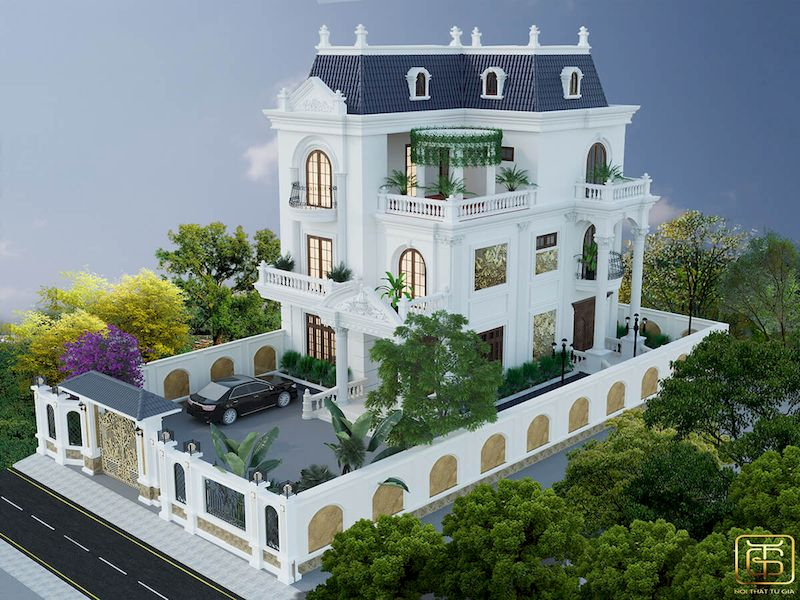 Thiết kế mặt tiền biệt thự đẹp