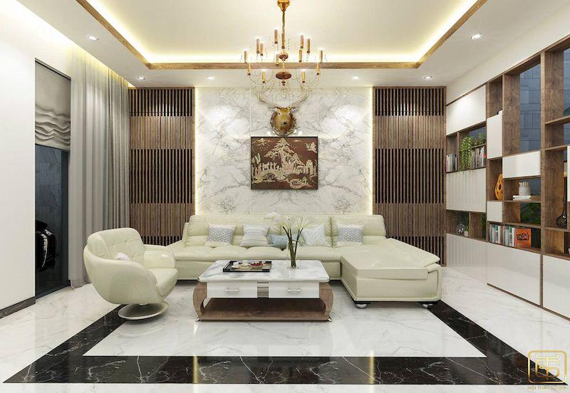 Thiết kế nội thất phòng trà biệt thự