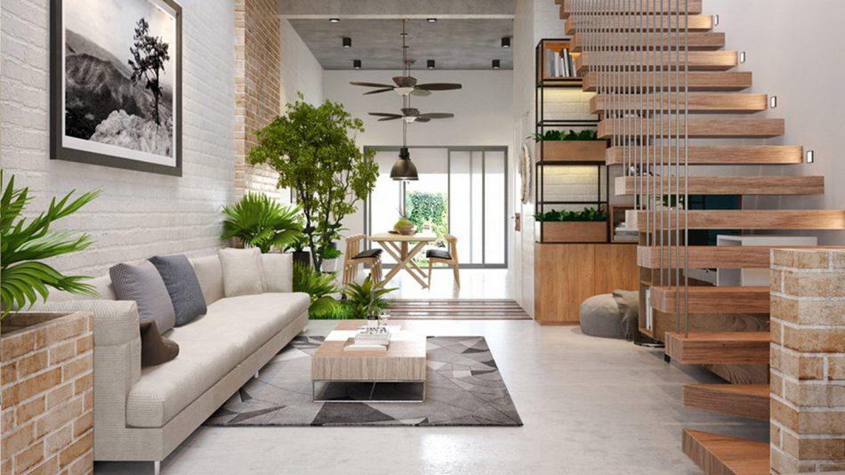 Thiết kế nội thất nhà ở 4m
