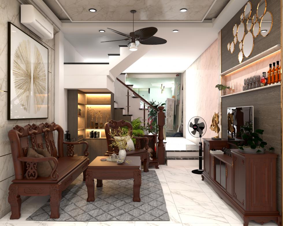 Thiết kế nội thất nhà ở 4x9m