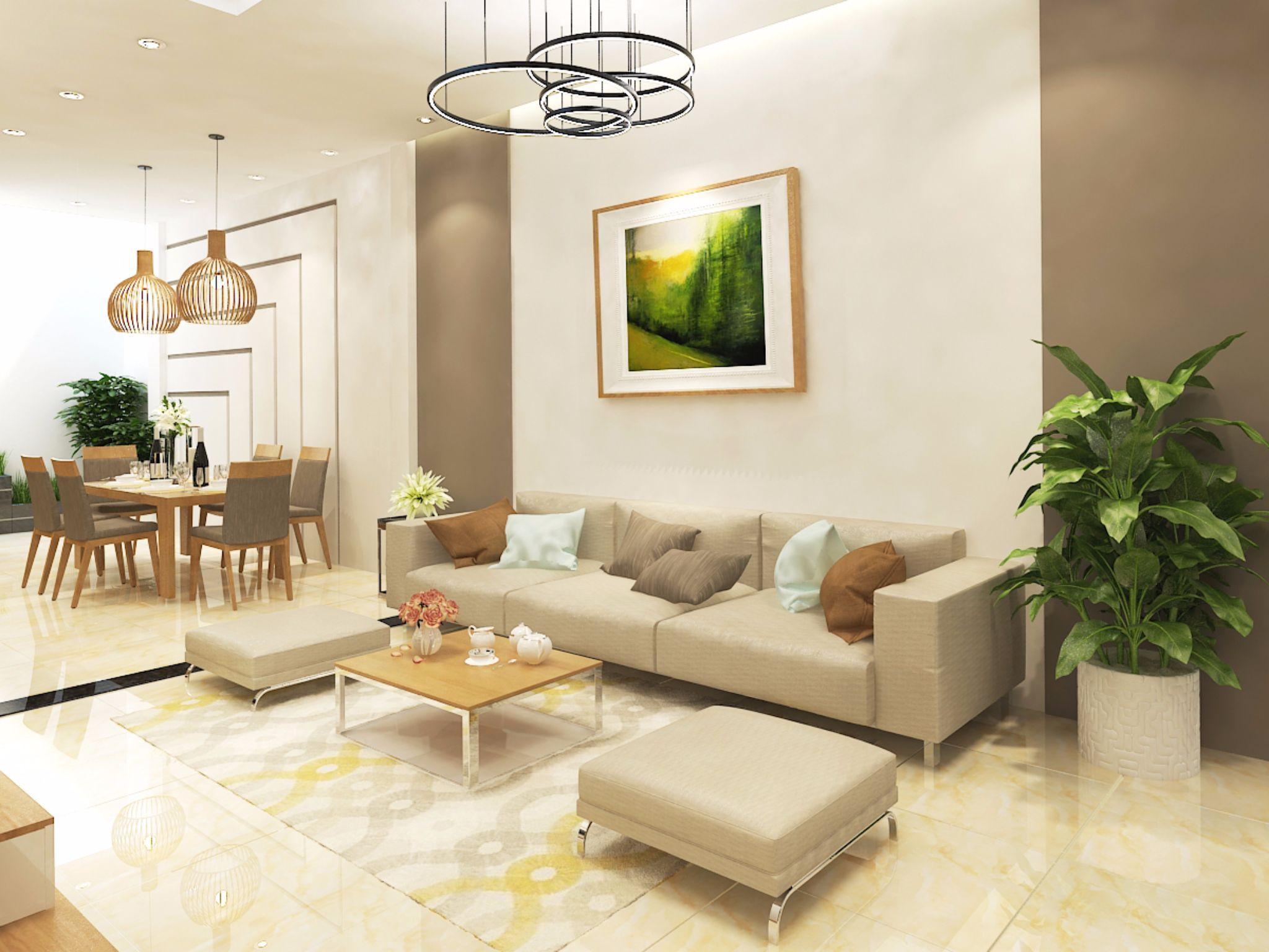 Thiết kế nội thất nhà ở 4x10m