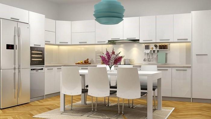 Mẫu thiết kế nội thất phòng bếp đơn giản