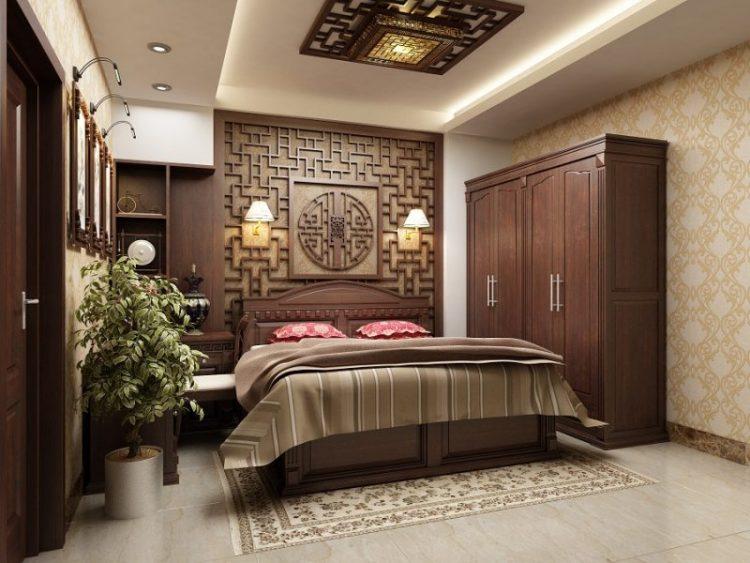 không gian nội thất phòng ngủ cho ông bà