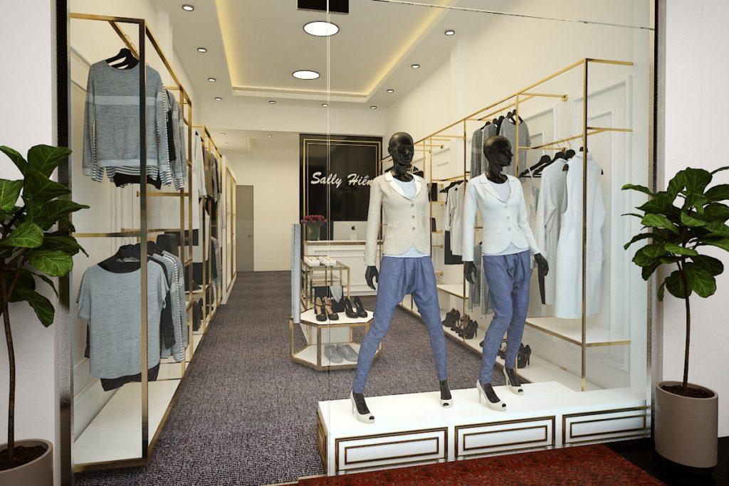 Mẫu thiết kế nội thất shop thời trang nữ