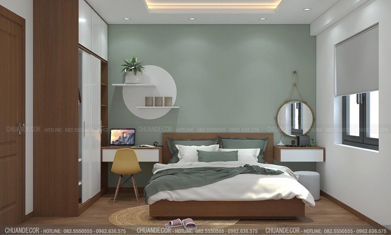 Mẫu thi công nội thất phòng ngủ được thực hiện bởi Tứ Gia