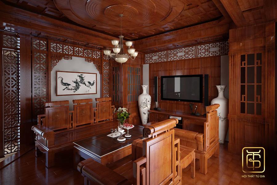 thi công nội thất bằng gỗ tự nhiên