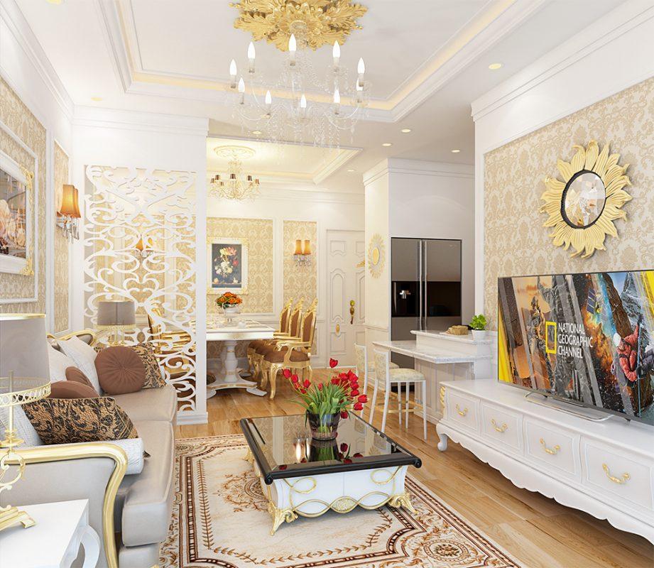 Nội thất căn hộ chung cư tân cổ điển - View 1