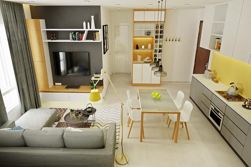 Thiết kế nội thất chung cư phong cách đơn giản