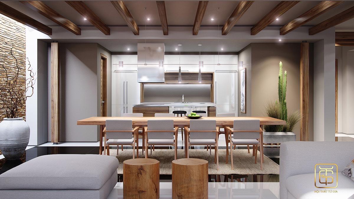 thi công nội thất phòng bếp hiện đại