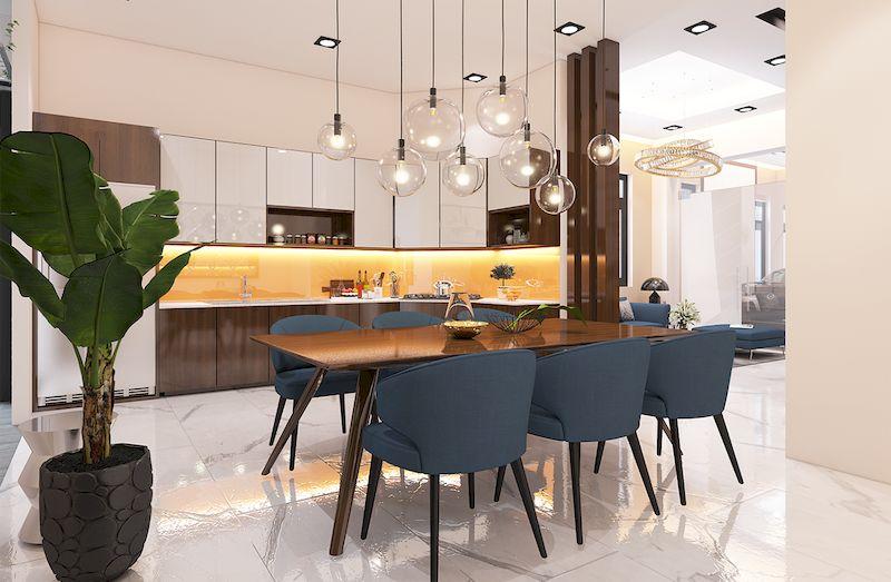 Nội thất phòng bếp hiện đại sang trọng