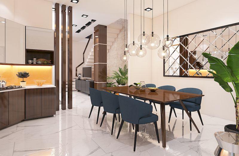 Thiết kế nội thất nhà phố đẹp hiện đại - Phòng bếp