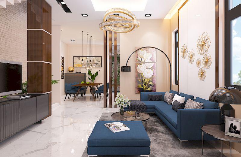 Thiết kế nội thất nhà phố đẹp hiện đại - Phòng khách