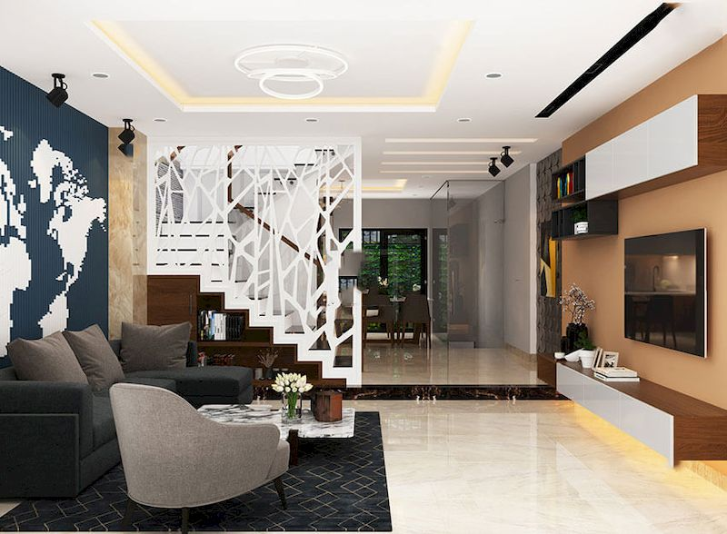 Nội thất nhà phố phong cách tối giản - View 2