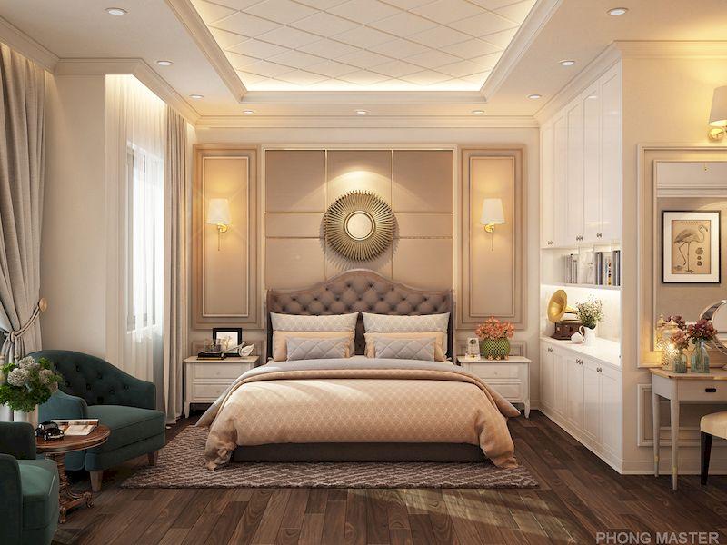 Bản vẽ thiết kế nội thất nhà phố 100m2 đẹp - Phòng ngủ