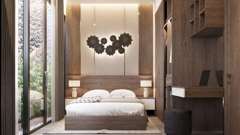 Thiết kế phòng ngủ nhà phố mặt tiền 4m