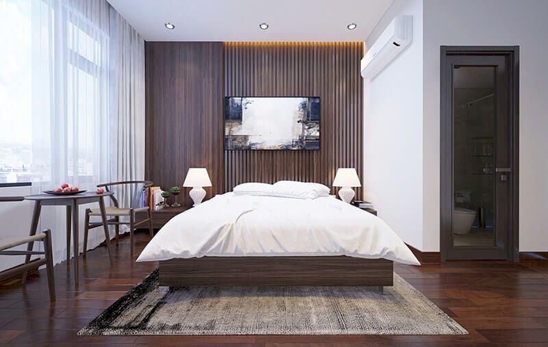 Bố trí nội thất nhà phố mặt tiền 6m đẹp - Phòng ngủ 2