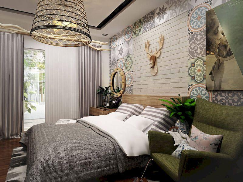 Bố trí nội thất phòng ngủ nhà phố mặt tiền 5m